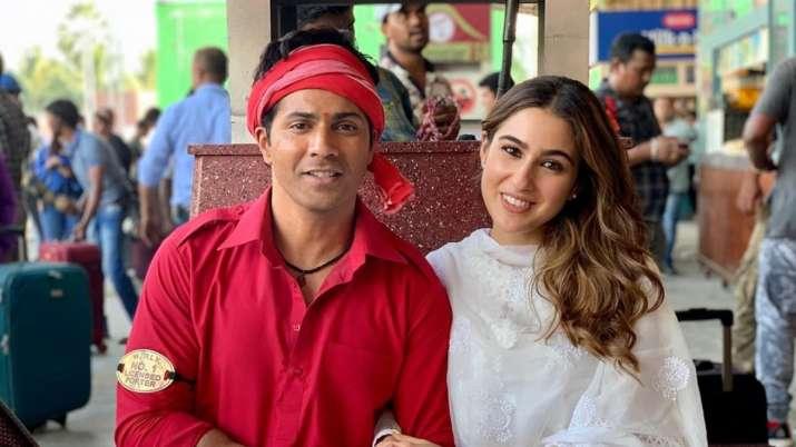 Varun Dhawan praises Coolie No. 1 co-star Sara Ali Khan: She is a thorough professional