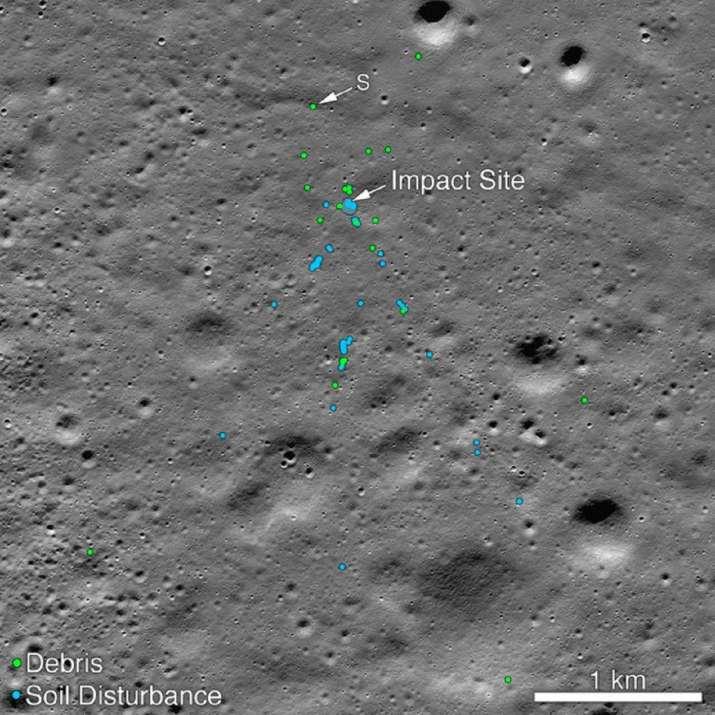 Latest News Nasa Finds Vikram Lander Crash Site Impact Debris Photos Released, Vikram Lander's crash