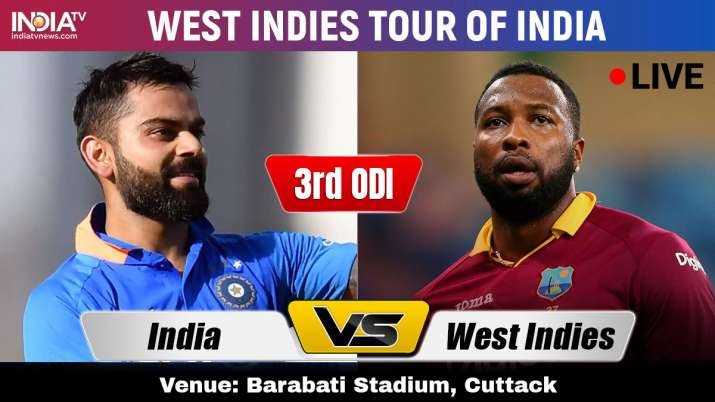 Live Streaming India vs West Indies, 3rd ODI: Watch IND vs WI Stream Live cricket match online on Ho