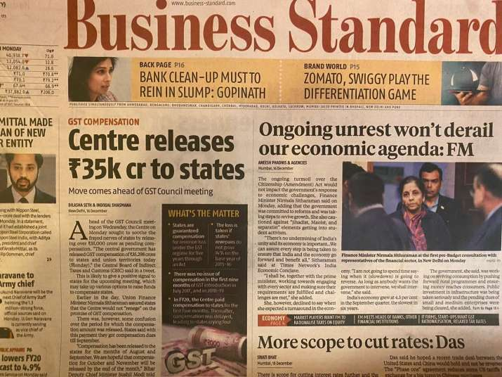 India Tv - Business Standard