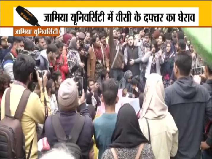 Tension in Jamia again, students gherao VC office