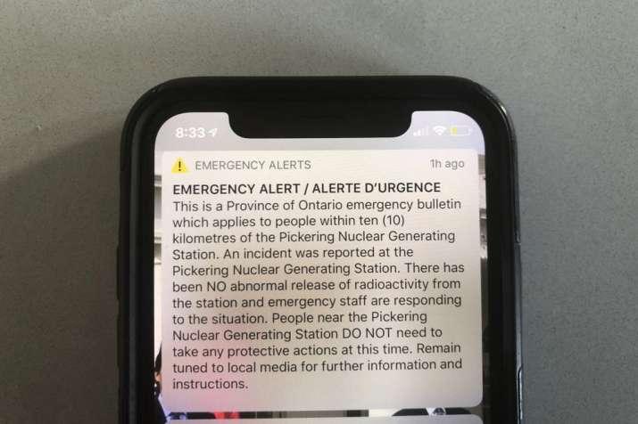 canada nuclear warning ontario