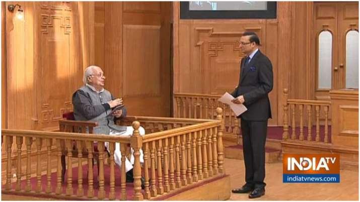 Kerala Governor Arif Mohammed Khan in Aap Ki Adalat with Rajat Sharma