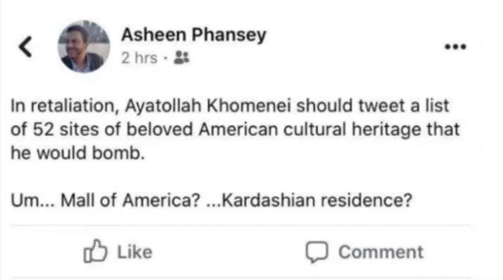 India Tv - Asheen Phasey Facebook post