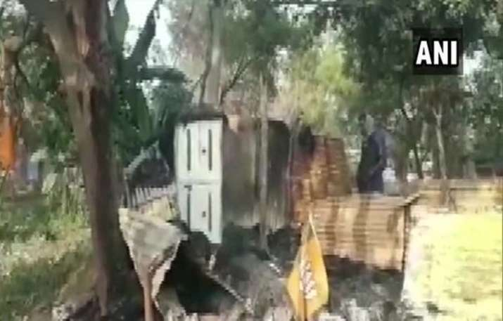 BJP office set on fire in West Bengal