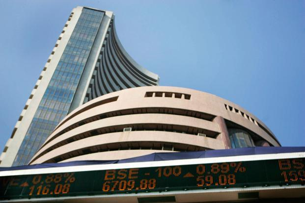 Sensex drops nearly 200 points; Nifty tests 12,300