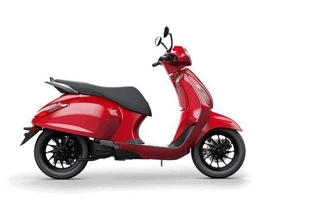 India Tv - Bajaj Chetak Electric red colour