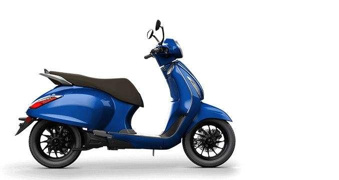 India Tv - Bajaj Chetak Electric blue colour