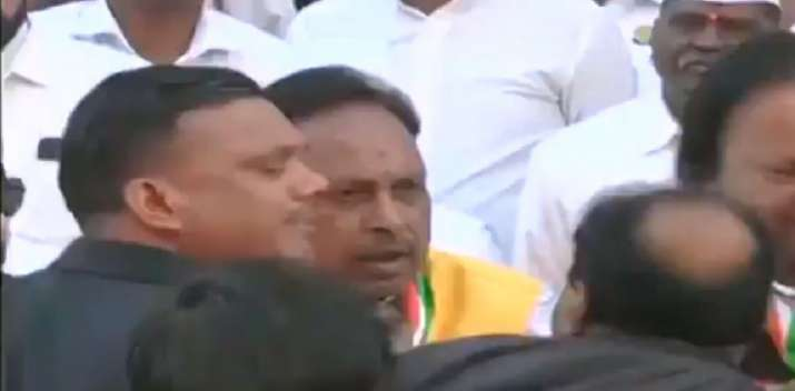 A screenshot of the video in which the Congress leaders are