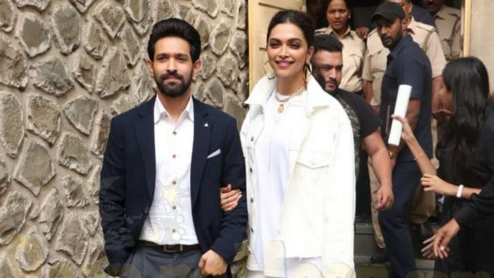 India Tv - Vikrant Massey and Deepika Padukone during Chhapaak promotions