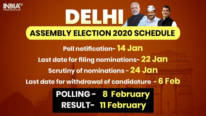 Delhi to go to polls on Feb 8; results on Feb 11