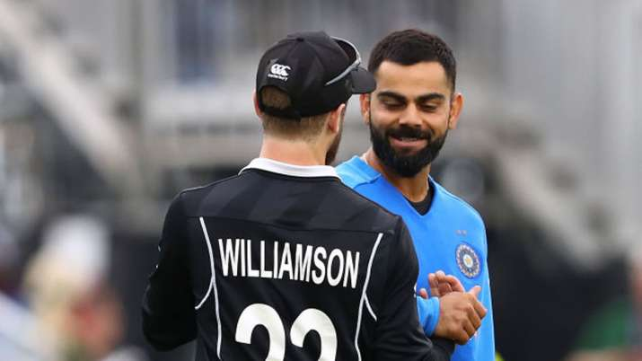 Image result for Kohli-Williamson 2020 T20I series photoshoot