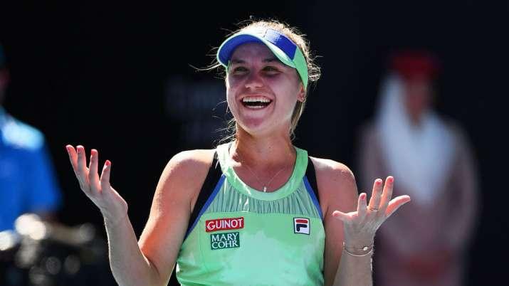 Australian Open Sofia Kenin Knocks Out World No 1 Ashleigh Barty To Reach Maiden Gs Final Tennis News India Tv