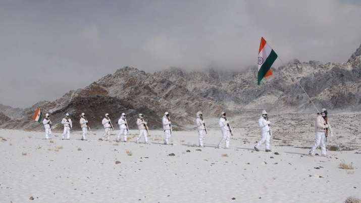ITBP personnel, Republic Day, Ladakh, 71st Republic Day