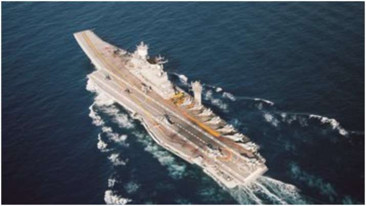 Indian aircraft carrier INS Vikramaditya in Arabian Sea china pakistan naval drill
