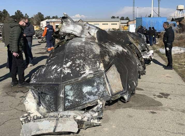 Wreckage of the Ukraine International Airlines Boeing