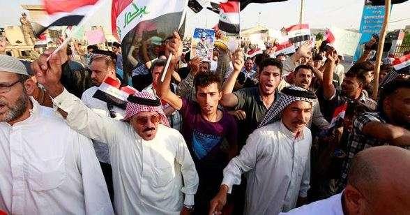 Iraqis demand new govt amid spike in regional tensions