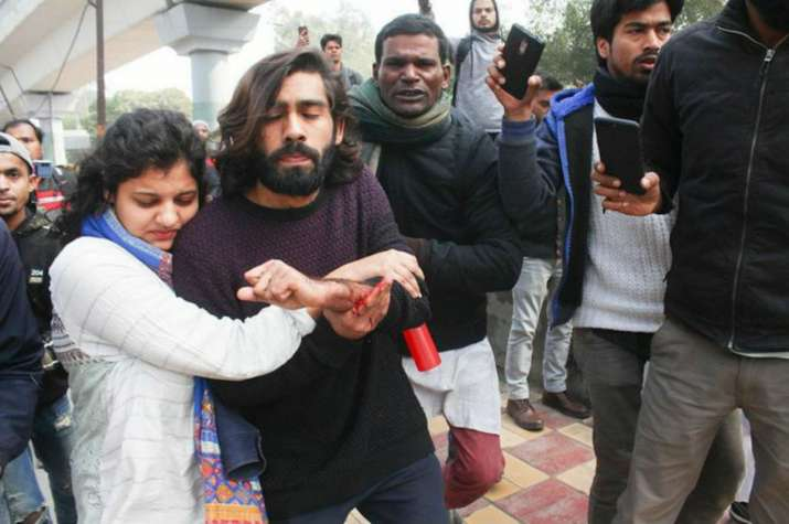 Student injured as man opens fire during anti-CAA protest