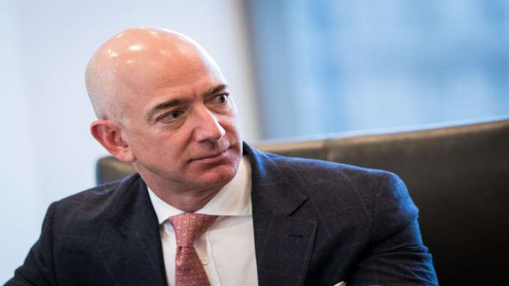 A file photo of Amazon founder Jeff Bezos, who is on a