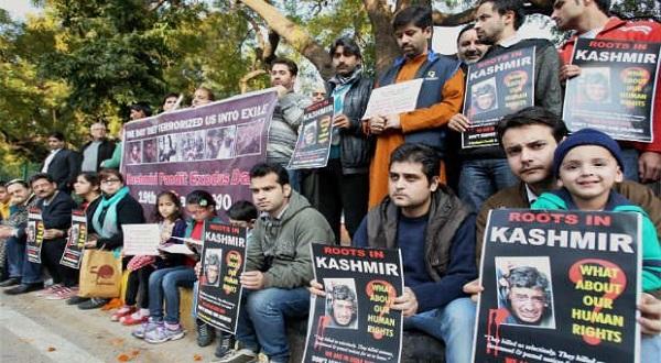 'We're coming back home': Kashmiri Pandits roar at Jantar Mantar