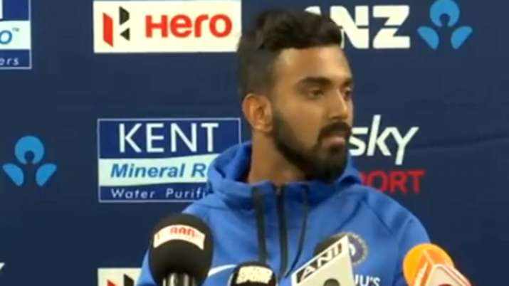 KL Rahul during the press conference