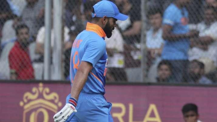 India Tv - Virat Kohli after getting dismissed by Adam Zampa
