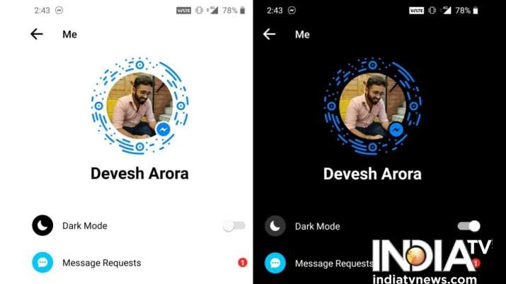 India Tv - fb messenger