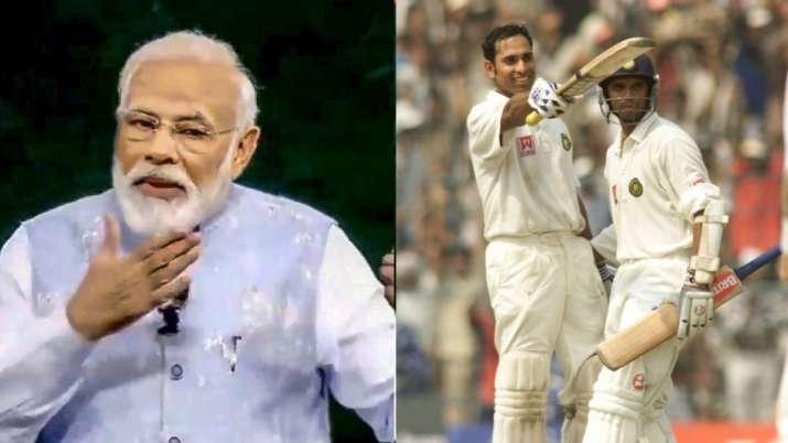 narendra modi, rahul dravid, vvs laxman, anil kumble, narendra modi speech, pm modi, 2001 kolkata te