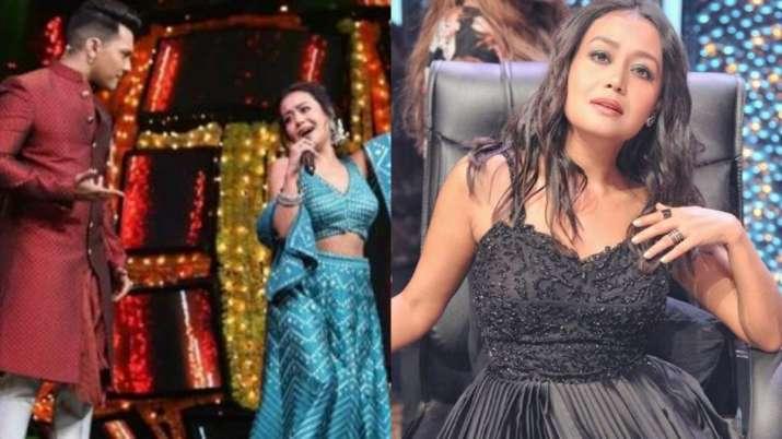 Neha Kakkar indian idol 11 neha kakkar post wedding rumours with aditya narayan turns beauty in blac
