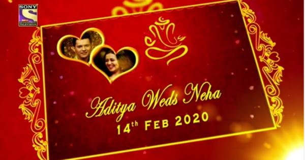 India Tv - Neha and Aditya wedding card