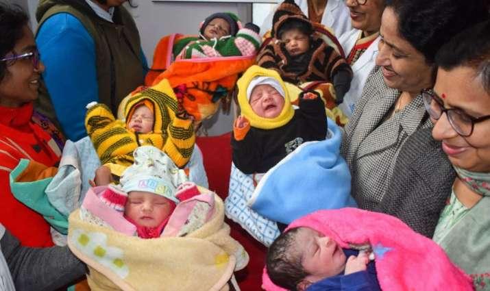 India Tv - Prayagraj: Babies born on the first day of the year at a hospital in Prayagraj (Allahabad), Wednesda
