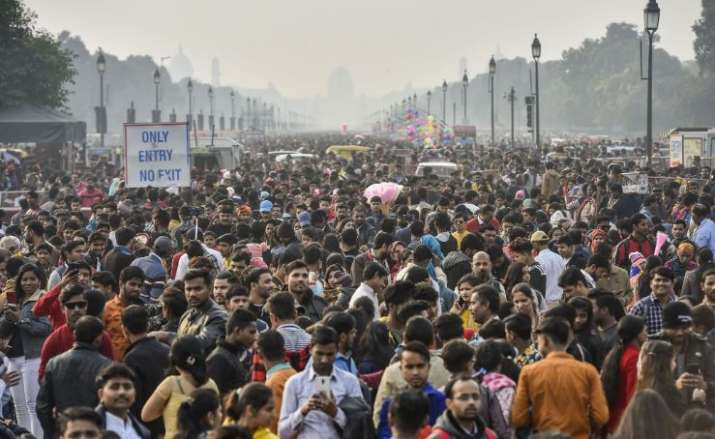 India Tv - New Delhi: Visitors gather at India Gate on the first day of the New Year 2020, in New Delhi, Wedne