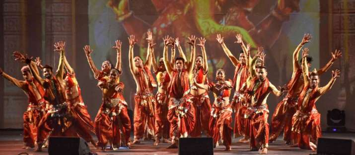 India Tv - Bhopal: Artists perform dance at a cultural event 'Jashn-e-Bhopal' to welcome new year-2020 at flo
