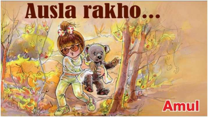 Amul express concern over Australia bushfires with a heartfelt doodle, see pic