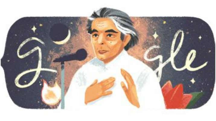 Google Doodle honours legendary poet Kaifi Azmi on his