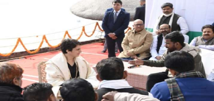 Congress general secretary Priyanka Gandhi during her