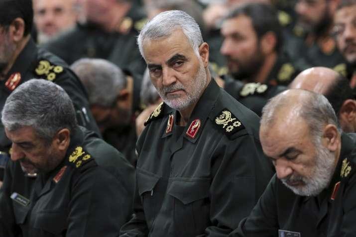 A file photo of slain Iranian commander Qasem Soleimani