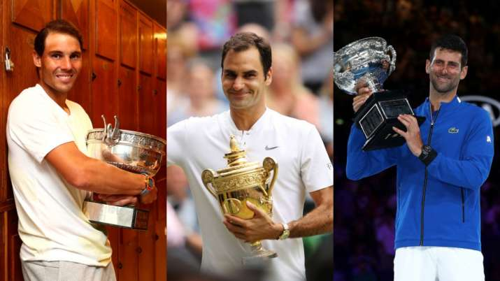 Nadal Djokovic Will Obviously Go Past My Grand Slam Tally Roger Federer Tennis News India Tv