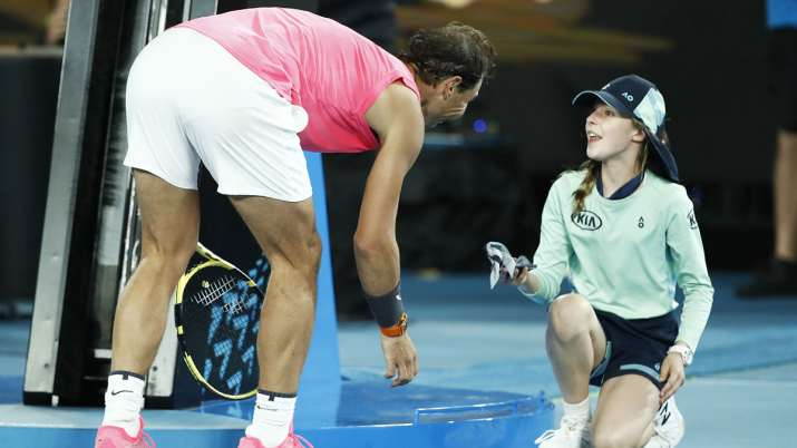 Australian Open 2020: Rafael Nadal's sweet gesture towards ball kid wins hearts. Watch
