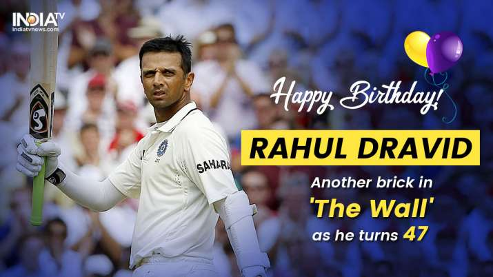 India Tv -  Happy Birthday Rahul Dravid: 'The Wall' that strengthens Indian cricket from the core