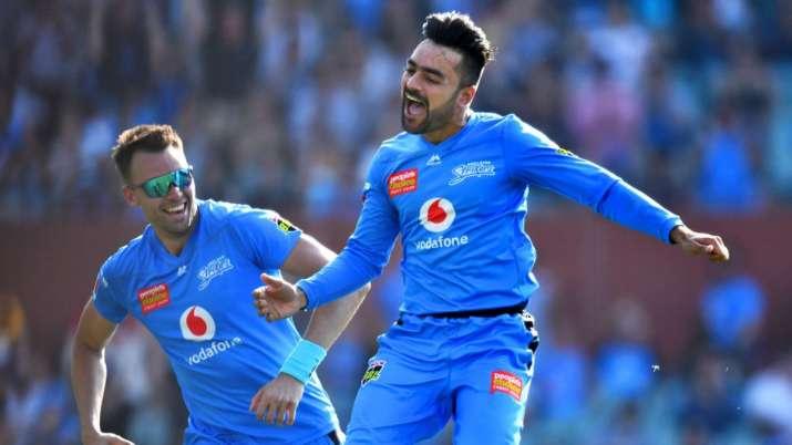 rashid khan, rashid khan hattrick, rashid khan hat trick, adelaide strikers, sydney sixers, big bash