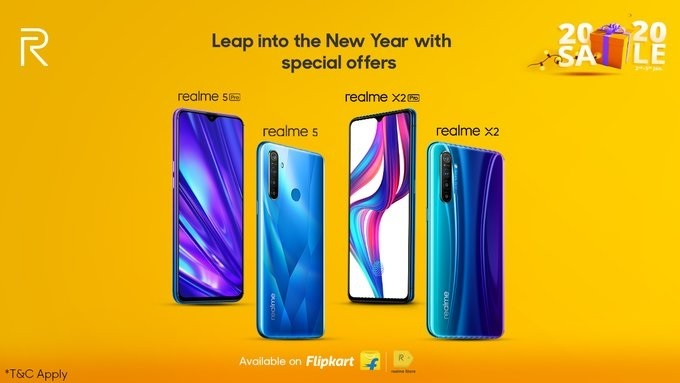 realme, new year sale, realme x2, realme x2 pro, realme 5 pro, realme 3 pro, prices, price in india,