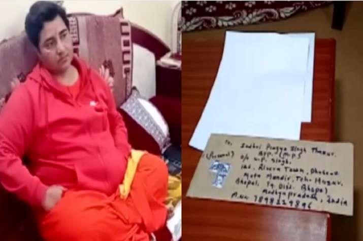 Pragya Singh Thakur, Sadhvi Pragya, Bhopal, suspicious letter