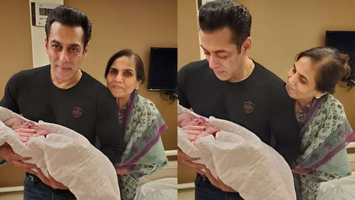 Arpita Khan Sharma shares adorbale pictures of newborn Ayat with 'mamu' Salman Khan