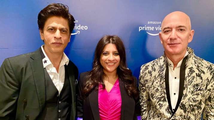 Shah Rukh Khan gives Bollywood touch to meeting with Jeff Bezos