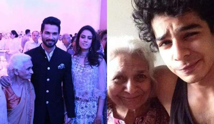 Shahid Kapoor grandmother