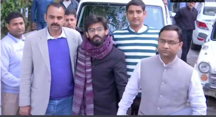 With heavy security, Sharjeel Imam produced before Saket court