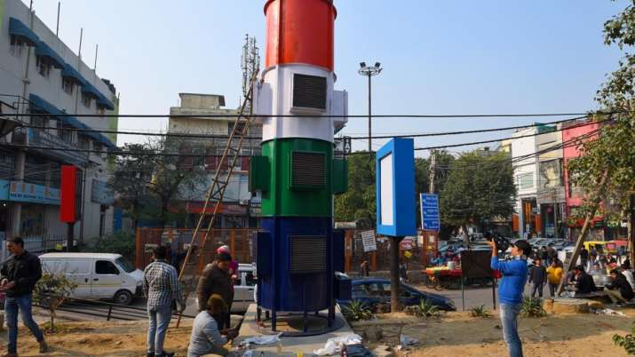 Install smog towers at Connaught Place, Anand Vihar in