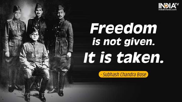 India Tv - Inspirational quotes by Netaji 5