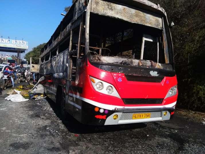 Thane bus fire